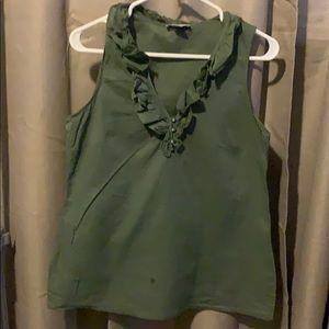 Ann Taylor LOFT green collar tank top